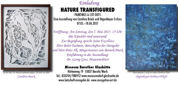 'Nature Transfigured' exhibition Caro & Otgo